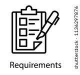 icon for requirements is... | Shutterstock .eps vector #1136297876