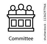some board members sitting on... | Shutterstock .eps vector #1136297966