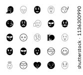 emoticon icon. collection of 25 ... | Shutterstock .eps vector #1136300990