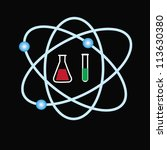molecule icons   Shutterstock .eps vector #113630380