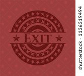 exit badge with red background | Shutterstock .eps vector #1136319494