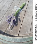Gathered Lavender Tied With...