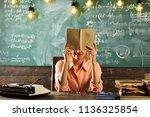 examination preparation of...   Shutterstock . vector #1136325854