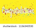 colorful congratulations banner ... | Shutterstock .eps vector #1136340530