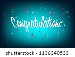colorful congratulations banner ... | Shutterstock .eps vector #1136340533