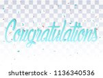 colorful congratulations banner ... | Shutterstock .eps vector #1136340536