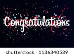 colorful congratulations banner ... | Shutterstock .eps vector #1136340539