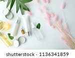 cosmetic nature skincare and...   Shutterstock . vector #1136341859