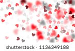 pink hearts falling on white... | Shutterstock .eps vector #1136349188