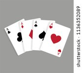 Set Of Four Aces  Vector...