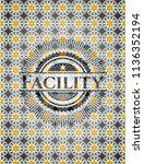 facility arabic emblem...   Shutterstock .eps vector #1136352194