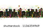 colorful metropolis  seamless... | Shutterstock .eps vector #1136354969