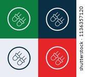 skewer icon vector | Shutterstock .eps vector #1136357120