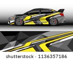 car decal graphic vector  truck ... | Shutterstock .eps vector #1136357186