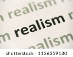 word realism  printed on white... | Shutterstock . vector #1136359130