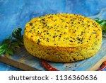 handwa or handvo   gujarati... | Shutterstock . vector #1136360636