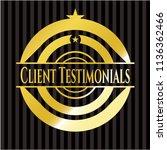 client testimonials gold badge...   Shutterstock .eps vector #1136362466