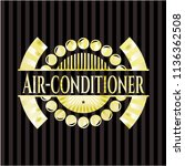air conditioner gold badge or... | Shutterstock .eps vector #1136362508
