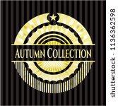 autumn collection golden emblem ... | Shutterstock .eps vector #1136362598