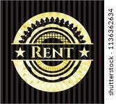 rent gold badge or emblem | Shutterstock .eps vector #1136362634