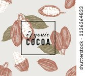 seamless pattern with cocoa... | Shutterstock .eps vector #1136364833