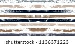 brush strokes seamless pattern. ... | Shutterstock .eps vector #1136371223