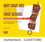 kebab eating party template for ... | Shutterstock .eps vector #1136371580