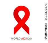 world aids day and hiv... | Shutterstock .eps vector #1136379878