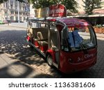 excursion bus electric car... | Shutterstock . vector #1136381606
