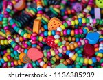 bright multi colored beads as a ... | Shutterstock . vector #1136385239