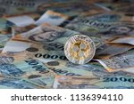 shzons collector coin on...   Shutterstock . vector #1136394110