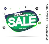 sale bubble banner design... | Shutterstock .eps vector #1136397899