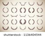 collection of twenty five... | Shutterstock .eps vector #1136404544