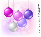 merry christmas vector... | Shutterstock .eps vector #113640670