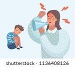 vector cartoon illustration of... | Shutterstock .eps vector #1136408126