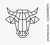 vector polygonal triangular...   Shutterstock .eps vector #1136408693