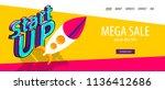 isometric startup banner.... | Shutterstock .eps vector #1136412686