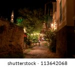 Ancient Streets In Rhodes Greece