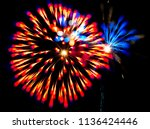 fireworks july 4th | Shutterstock . vector #1136424446