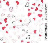 light red vector seamless... | Shutterstock .eps vector #1136431094
