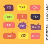 colored speech bubbles set in... | Shutterstock . vector #1136431334
