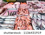 Assortment Of Fresh Fishes At...