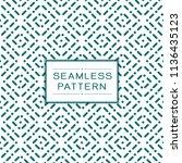 vector seamless dots pattern... | Shutterstock .eps vector #1136435123