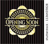 opening soon gold badge or... | Shutterstock .eps vector #1136435828