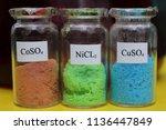 metal salts  brown cobalt... | Shutterstock . vector #1136447849