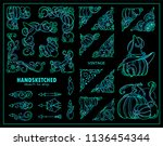 vector collection of corners ... | Shutterstock .eps vector #1136454344