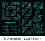 vector collection of corners ... | Shutterstock .eps vector #1136454344
