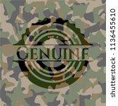 genuine on camouflaged pattern | Shutterstock .eps vector #1136455610
