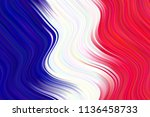 abstract waving flag of france... | Shutterstock .eps vector #1136458733