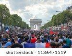 paris  france   july 15th  2018 ...   Shutterstock . vector #1136471519
